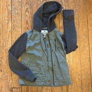 A&F gray and army green hoodie